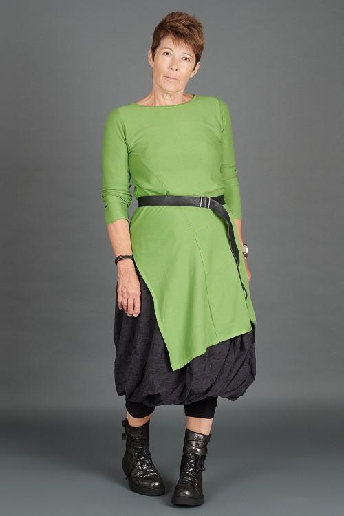Lurdes Bergada Long Pullover LB195193 ,Rundholz Leather Belt RH195014 ,Rundholz Black Label Skirt RH195068 ,Lurdes Bergada Leather Boots LB195182