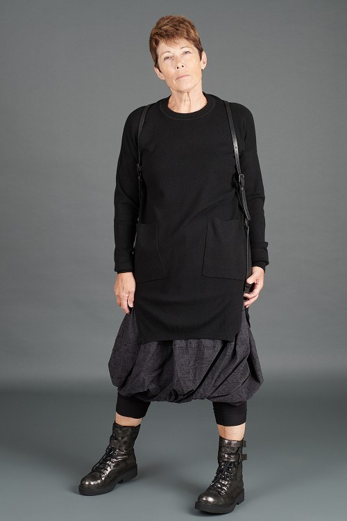 Rundholz Black Label Skirt RH195068, Rundholz Leather Harness Belt RH195016, Rundholz Black Label Skirt RH195068, Lurdes Bergada Leather Boots LB195182