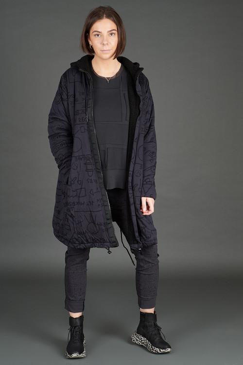 Rundholz Black Label Coat RH195109, Rundholz Black Label T-shirt RH195080, Lofina Leopard Printed Boots LF195268, Rundholz Black Label Trousers RH195066