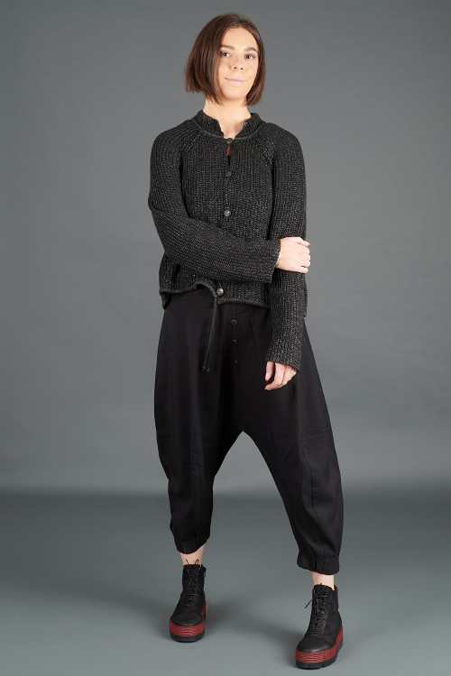 Lurdes Bergada Sleeveless Jumpsuit LB195175 ,Lurdes Bergada Coated Knitted Cardigan LB195192 ,Lofina Boots  LF195271