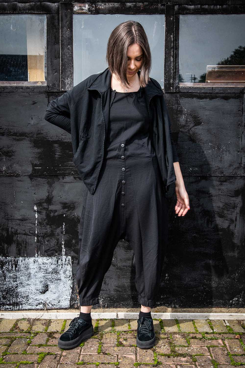 Lurdes Bergada Sleeveless Jumpsuit LB195175 ,Rundholz Black Label Jacket RH195040