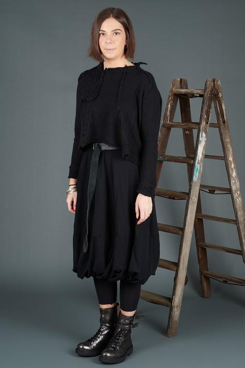 Rundholz Cashmere Pullover RH195009 ,Rundholz Black Label Skirt RH195086 ,Lurdes Bergada Waist Belt LB195181 ,Lurdes Bergada Leather Boots LB195182