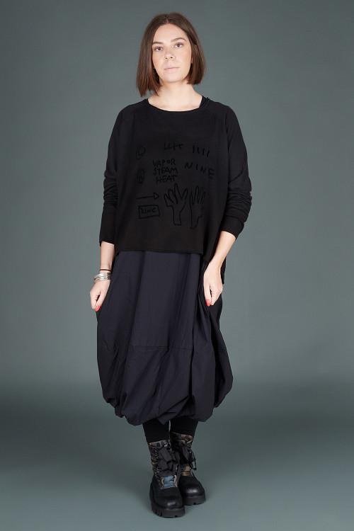 Rundholz Black Label Dress RH195069 ,Rundholz Black Label Pullover RH195063 ,Rundholz Black Label Boots RH195161