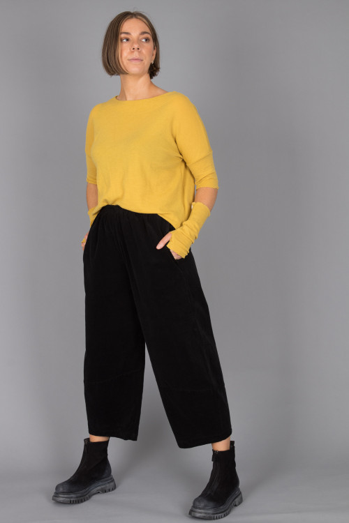 By Basics Boat Neck Top BB100082 ,By Basics Wrist Warmers BB100041 ,Cut Loose Lantern Pant CL215057 ,Lofina Suede Zip Boots LF105044