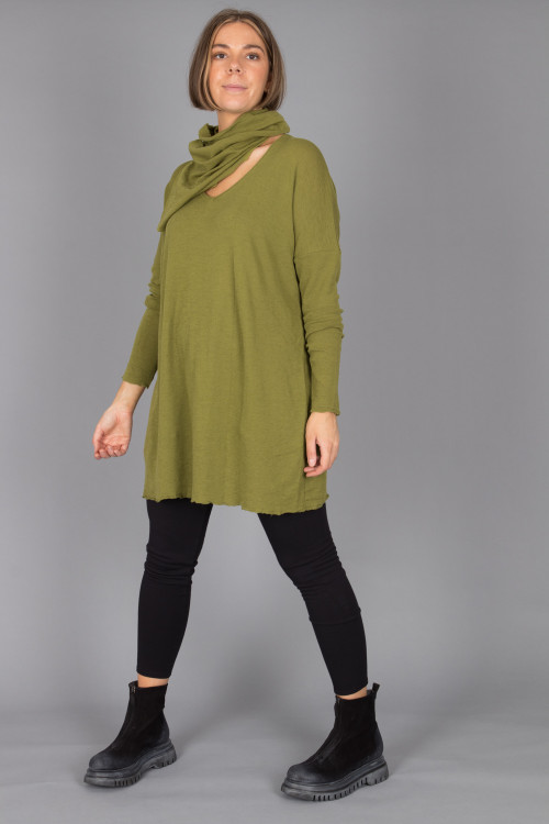 By Basics Neck Warmer BB105058 ,By Basics V Neck Tunic BB100084 ,Cut Loose Leggings CL215060 ,Lofina Suede Zip Boots LF105044