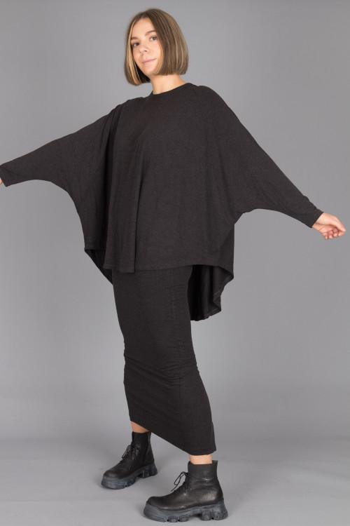 Kedem Sasson Shirt KS215300 ,Kedem Sasson Jersey Skirt KS215321 ,Lofina Crackled Black Boots LF210024