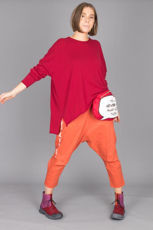 Capra Studio Cara Cotton Pullover CS100065 ,Rundholz Black Label Trousers RH210147 ,Rundholz Bag RH215140 ,Lofina Lace Combi Boots LF215092