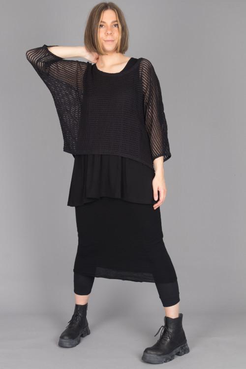 By Basics U-Top Wide BB105064 ,By Basics Skirt BB100083 ,Elsewhere Short Knit Top EW215032 ,Lofina Crackled Black Boots LF210024