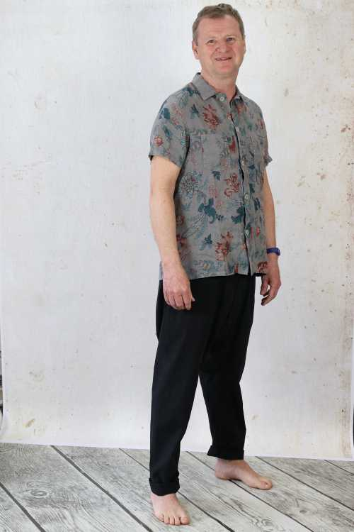 Syngman Cucala Shirt With Flower Print SC170062 ,Rundholz Dip Mens Trousers RH165298