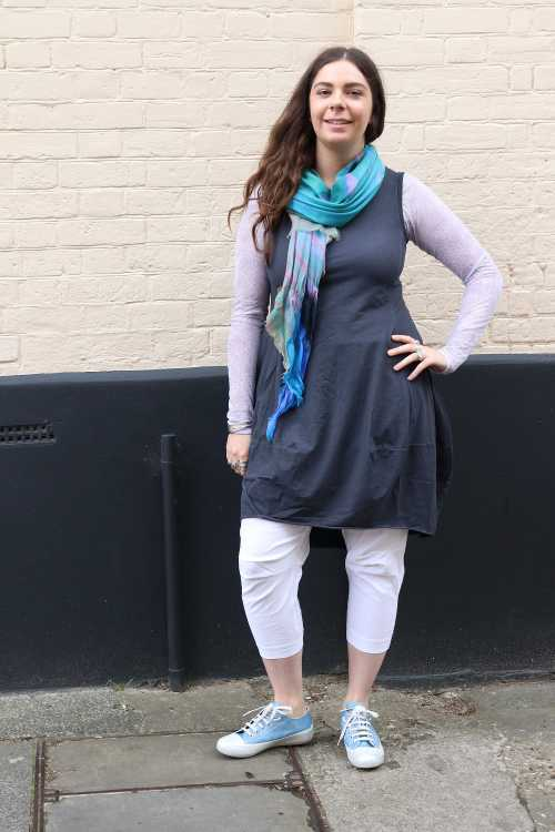 Rundholz Black Label Tunic RH170267 ,Rundholz Best Ever Trousers Pockets RH170280 ,Candice Cooper Trainer CC170369 ,Walkers Designs Fish Scales Scarf WD0005