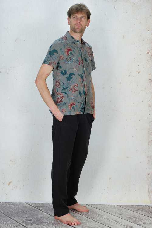 Syngman Cucala Shirt With Flower Print SC170062 ,Syngman Cucala Trousers SC170051