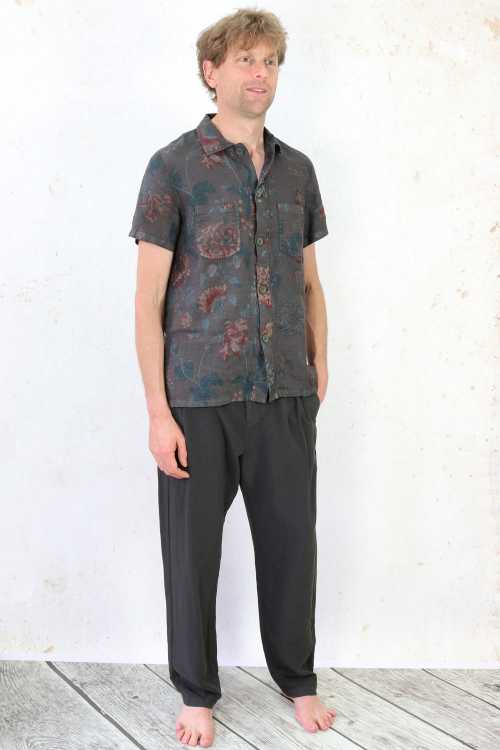 Syngman Cucala Trousers SC170066 ,Syngman Cucala Shirt With Flower Print SC170062