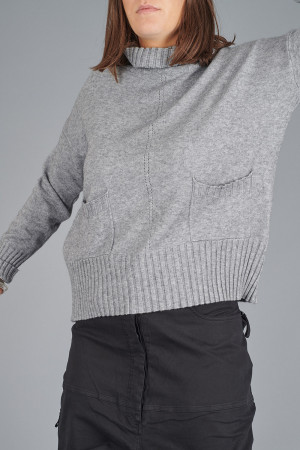 YL100010 - Yellow Label Grey Polo Pullover @ Walkers.Style women's and ladies fashion clothing online shop