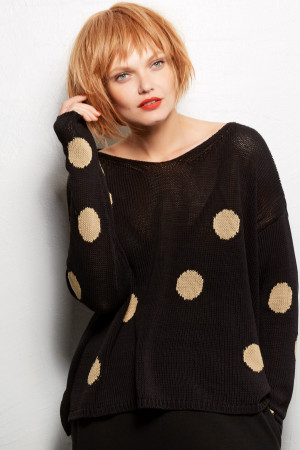 ll100032 - Lilith Alice - Polka Dot Sweater @ Walkers.Style women's and ladies fashion clothing online shop