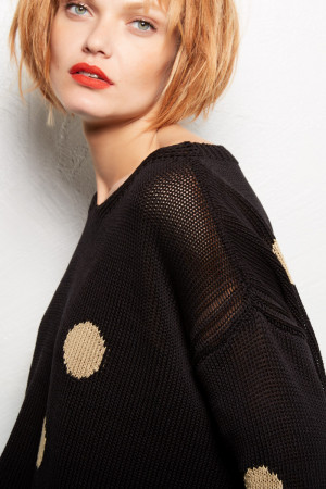 ll100032 - Lilith Alice - Polka Dot Sweater @ Walkers.Style buy women's clothes online or at our Norwich shop.