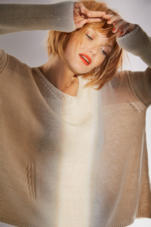 ll100033 - Lilith Anaïs - Solid Colour sweater @ Walkers.Style women's and ladies fashion clothing online shop