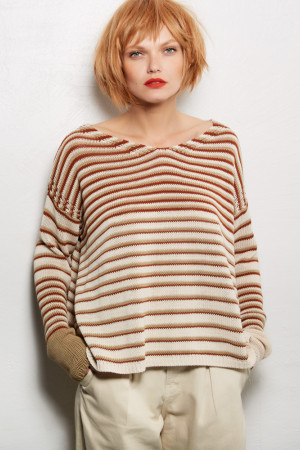 ll100034 - Lilith Anouk - Striped Sweater @ Walkers.Style women's and ladies fashion clothing online shop