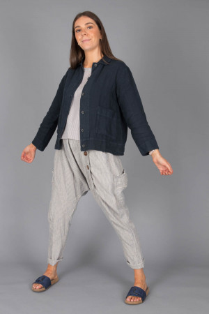 bb100075 - By Basics Linen Jacket @ Walkers.Style buy women's clothes online or at our Norwich shop.