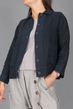 bb100075 - By Basics Linen Jacket @ Walkers.Style women's and ladies fashion clothing online shop