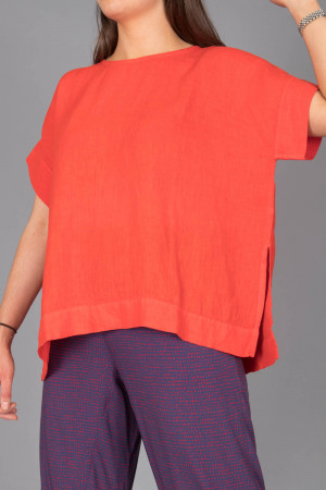 bb100078 - By Basics Linen Boxy Top @ Walkers.Style women's and ladies fashion clothing online shop