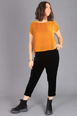 cl105019 - Cut Loose Velvet Top @ Walkers.Style buy women's clothes online or at our Norwich shop.