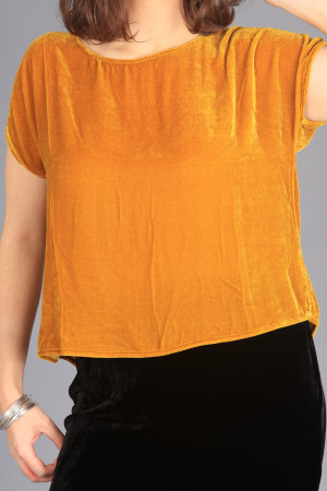 cl105019 - Cut Loose Velvet Top @ Walkers.Style women's and ladies fashion clothing online shop