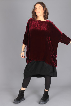 cl105020 - Cut Loose Velvet Tunic @ Walkers.Style buy women's clothes online or at our Norwich shop.