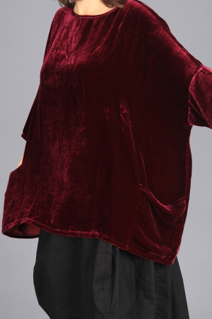 cl105020 - Cut Loose Velvet Tunic @ Walkers.Style women's and ladies fashion clothing online shop