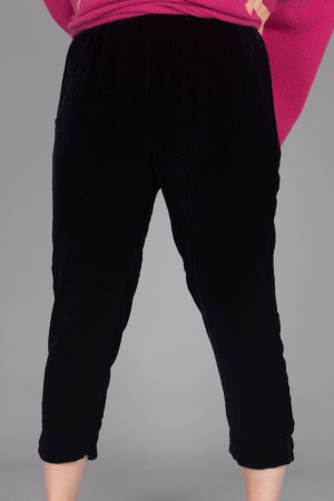 cl105021 - Cut Loose Velvet Cropped Trouser @ Walkers.Style women's and ladies fashion clothing online shop