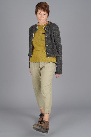 cl105026 - Cut Loose Collarless Cropped Cardigan @ Walkers.Style buy women's clothes online or at our Norwich shop.