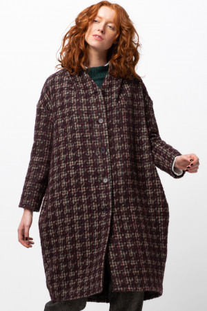 ll105031 - Lilith Clark Check Coat  @ Walkers.Style women's and ladies fashion clothing online shop