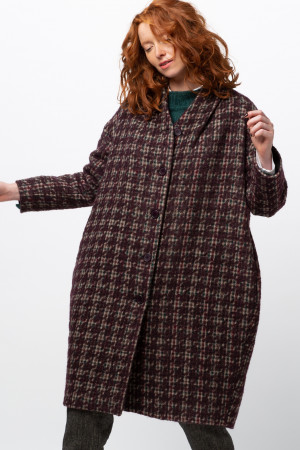 ll105031 - Lilith Clark Check Coat  @ Walkers.Style buy women's clothes online or at our Norwich shop.