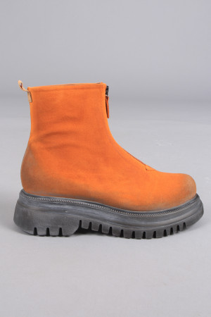 lf105044 - Lofina Suede Zip Boots @ Walkers.Style women's and ladies fashion clothing online shop