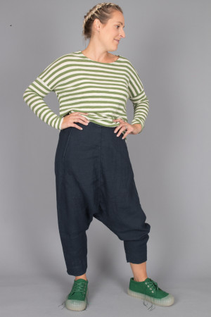 bb105060 - By Basics Linen Harem Pants @ Walkers.Style buy women's clothes online or at our Norwich shop.