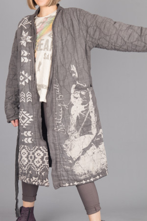 mp105076 - Magnolia Pearl Native Art Quilted Coat @ Walkers.Style women's and ladies fashion clothing online shop