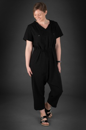 lb190015 - Lurdes Bergada Hooded Jumpsuit @ Walkers.Style women's and ladies fashion clothing online shop