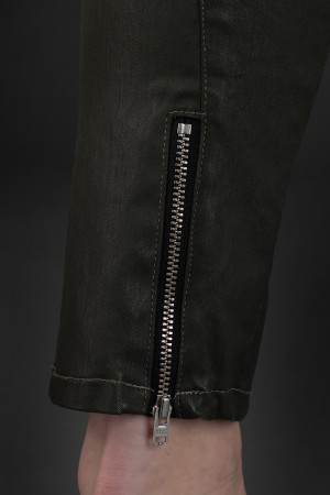 lb190017 - Lurdes Bergada Resin Coated Trousers @ Walkers.Style buy women's clothes online or at our Norwich shop.