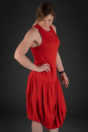 lb190025 - Lurdes Bergada Fitted Jersey Dress @ Walkers.Style buy women's clothes online or at our Norwich shop.