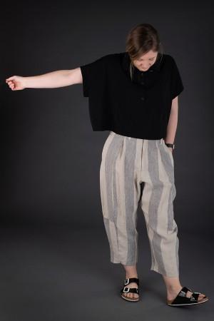 lb190050 - Lurdes Bergada Syngman striped Pants @ Walkers.Style women's and ladies fashion clothing online shop