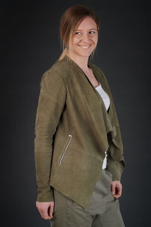 NR190109 - Nor Molly Suede Jacket @ Walkers.Style buy women's clothes online or at our Norwich shop.