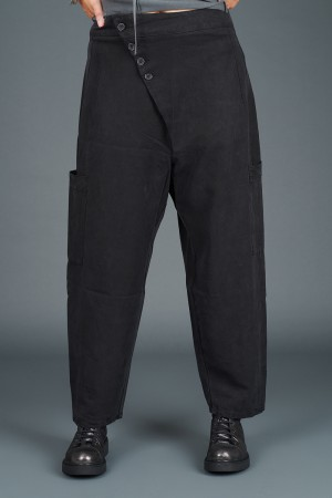 lb195179 - Lurdes Bergada Asymmetric Buttoned Pants @ Walkers.Style buy women's clothes online or at our Norwich shop.