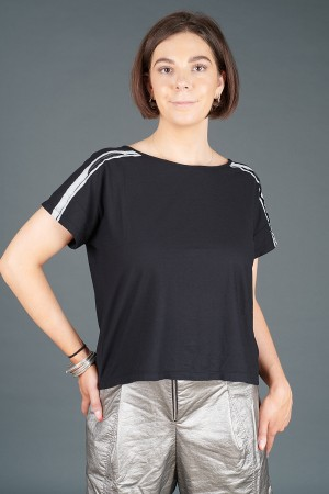 lb195184 - Lurdes Bergada Stripe T-Shirt @ Walkers.Style buy women's clothes online or at our Norwich shop.