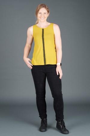 lb195185 - Lurdes Bergada Stripe Tank Tee @ Walkers.Style women's and ladies fashion clothing online shop