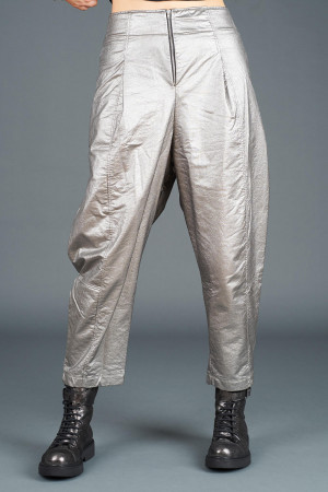 lb195188 - Lurdes Bergada Metalic Coated Trousers @ Walkers.Style buy women's clothes online or at our Norwich shop.