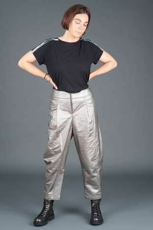lb195188 - Lurdes Bergada Metalic Coated Trousers @ Walkers.Style women's and ladies fashion clothing online shop