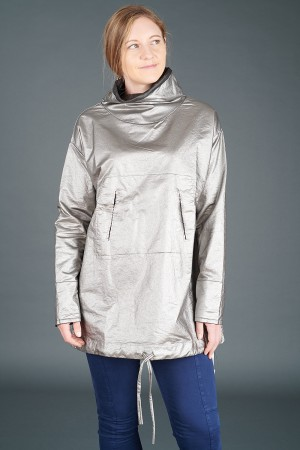 lb195189 - Lurdes Bergada Metalic Coated Oversized Top @ Walkers.Style buy women's clothes online or at our Norwich shop.