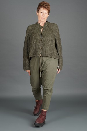 lb195192 - Lurdes Bergada Coated Knitted Cardigan @ Walkers.Style women's and ladies fashion clothing online shop
