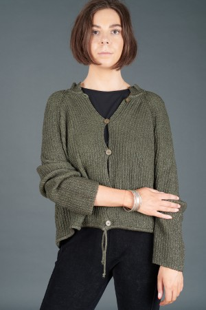 lb195192 - Lurdes Bergada Coated Knitted Cardigan @ Walkers.Style buy women's clothes online or at our Norwich shop.