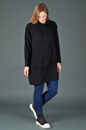 lb195197 - Lurdes Bergada Pocket Oversize Top @ Walkers.Style women's and ladies fashion clothing online shop