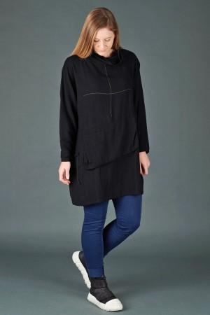 lb195197 - Lurdes Bergada Pocket Oversize Top @ Walkers.Style women's and ladies fashion clothing online shop